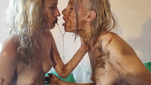 Lesbian Extreme Scat And Goldrain Dirty Kisses By Jelena And Tiana ...