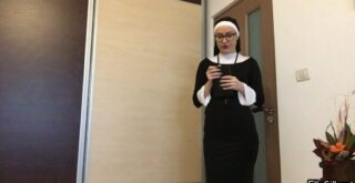 Dirty Crazy Nun - Ella Gilbert - HD 720p (Scat Solo, Amateurs Scat, Smearing, Poop Videos) - 1