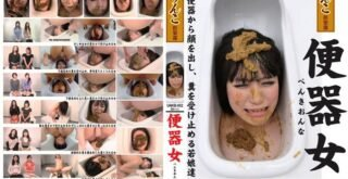 UNKB-002 Defecation on face womans in urinal. Human toilet series